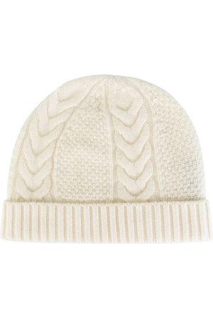 N.Peal Damen Hüte - Kaschmirmütze mit Zopfmuster
