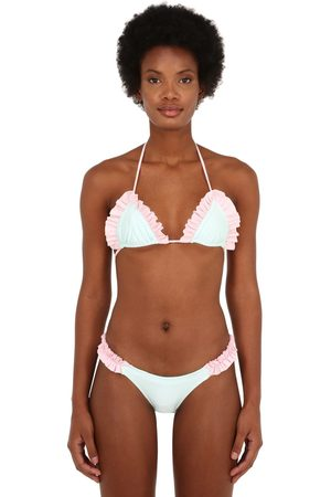 JUST SAUCED Lula Ruffled Bikini Top