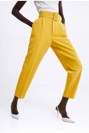 Zara Hose mit hohem bund und gürtel