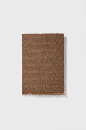 Zara Basic-halstuch mit strukturmuster