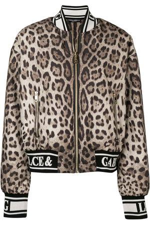 Dolce & Gabbana Damen Winterjacken - Bomberjacke mit Leoparden-Print