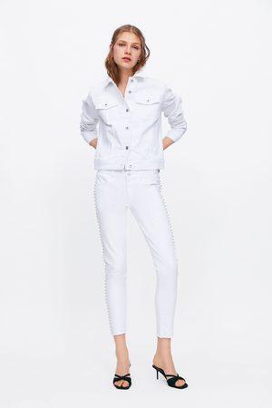Zara Jeans z1975 mid rise skinny mit glitzer