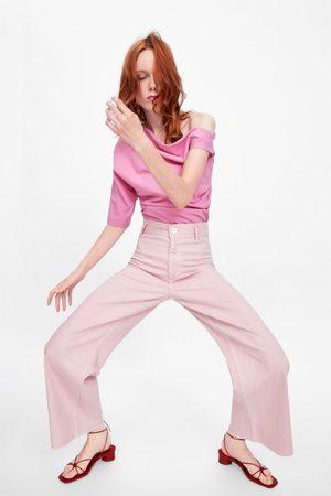 Zara Jeans zw premium marine straight pink