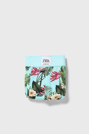 Zara Boxershorts mit blumenprint