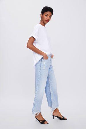 Zara Damen Weite Hosen - Jeans z1975 hi-rise wide leg