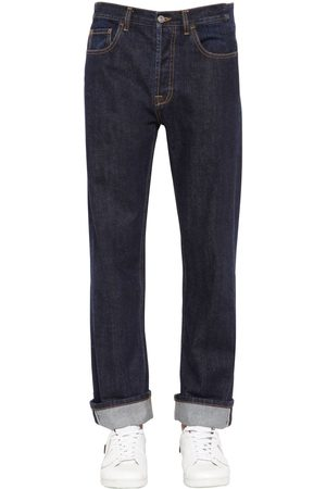 Valentino Baggy & Cropped Cotton Denim Jeans