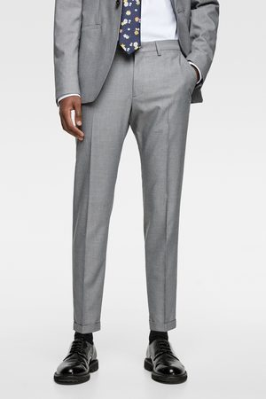 Zara Panama-anzughose mit strukturmuster