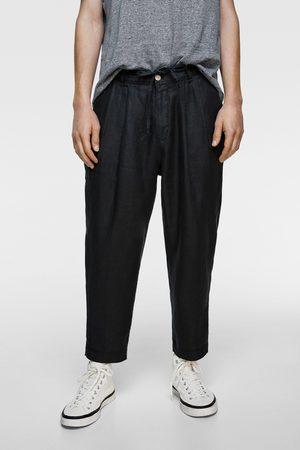 Zara Leinenhose mit bundfalten