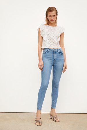 Zara Vintage-jeggings im skinny-fit mit hohem bund