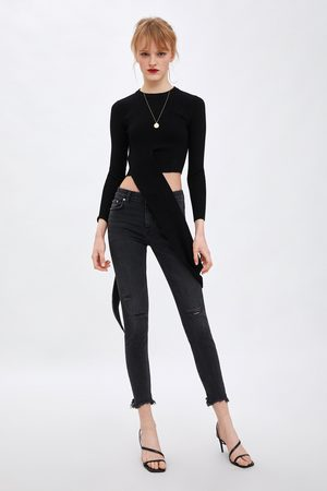 Zara Jeans low rise skinny compact