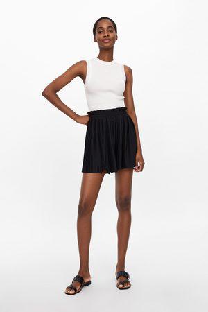 Zara Damen Shorts - Plissée-shorts