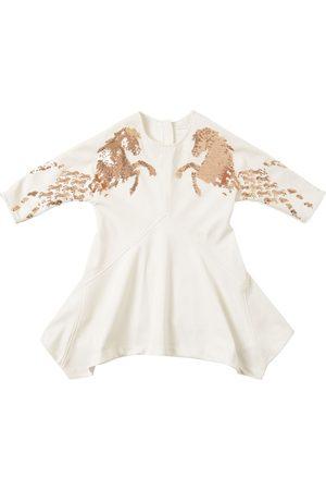 Chloé Horse Embellished Techno Crepe Dress