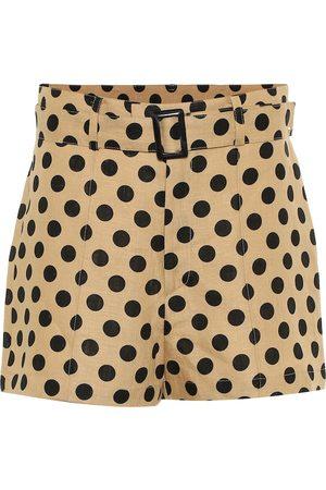 Lisa Marie Fernandez Bedruckte Shorts aus Leinen