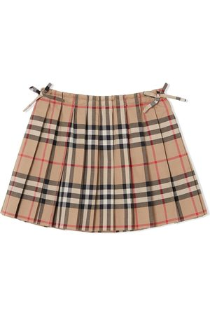 Burberry Vintage Check Pleated Skirt - Nude