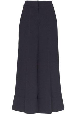 Roksanda Hasani wide leg silk and cotton trousers