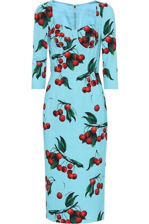 Dolce & Gabbana Damen Bedruckte Kleider - Exklusiv bei Mytheresa – Bedrucktes Etuikleid aus Crêpe