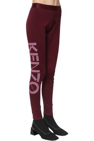 Kenzo Damen Leggings & Treggings - Logo Print Stretch Cotton Leggings