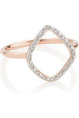 Monica Vinader RP Riva' Ring mit Diamanten