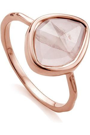 Monica Vinader RP Siren' Ring mit Rosenquarz
