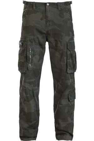 Black Premium by EMP Army Vintage Trousers Hose darkcamo