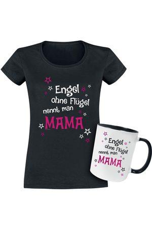 Geschenkbox - Geschenkset T-shirt + Tasse Engel ohne Flügel nennt man Mama Girl-Shirt