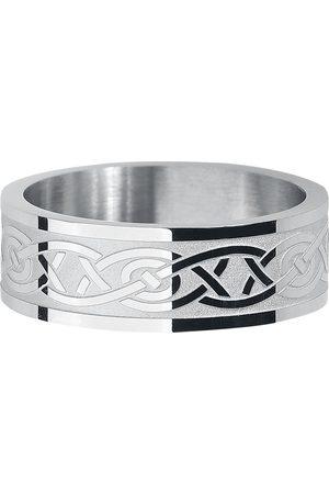 etNox Herren Ringe - Keltischer Knoten Ring silberfarben