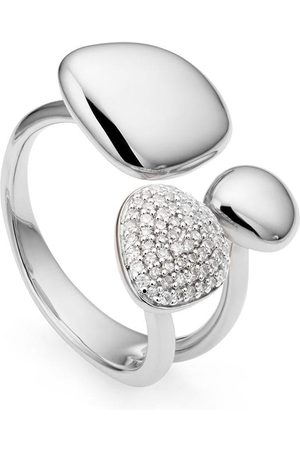 Monica Vinader Nura Pebble Cluster' Ring mit Diamanten