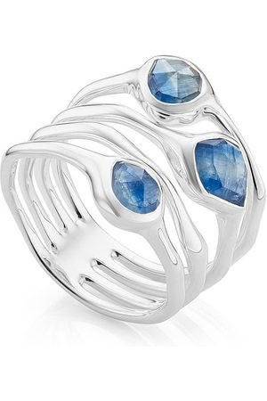 Monica Vinader Siren Cluster Cocktail Kyanite ring - Blue