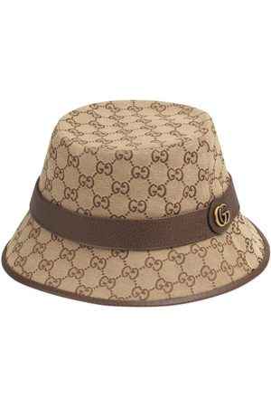 Gucci Canvas-Fedora mit GG - Nude