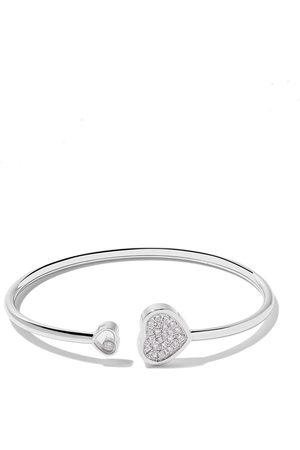 Chopard 18kt 'Happy Hearts' Weißgoldarmreif mit Diamanten - White