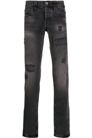 Philipp Plein Gerade Distressed-Jeans