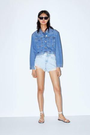 Zara Shorts mit hohem bund und rissen