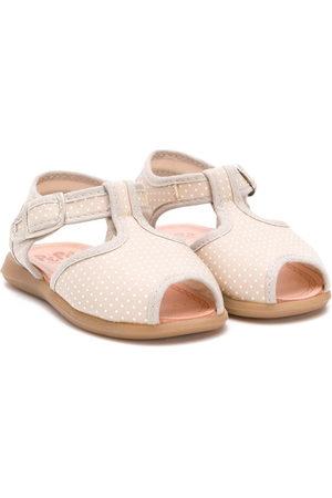 Pèpè Mädchen Sandalen - Polka-dot sandals - Nude