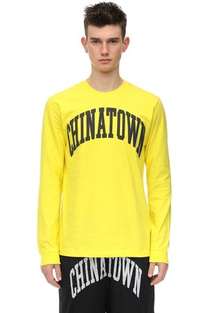"""Chinatown Market Langärmeliges T-shirt Aus Baumwolljersey """"arc"""""""