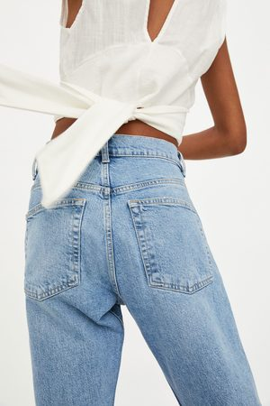 Zara Jeans mid rise slouchy risse