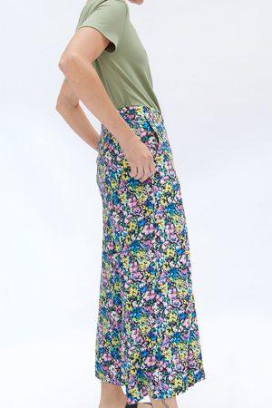 Zara Gemusterte bermudashorts mit zierfalten