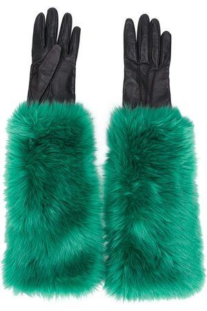 Prada Handschuhe mit Faux Fur