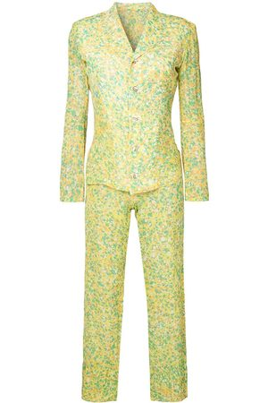 YOHJI YAMAMOTO Anzug mit abstraktem Print - Mehrfarbig