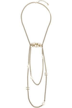 CHANEL Halskette mit CC-Logo - Metallisch