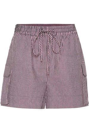 Ganni Gestreifte Shorts aus Seersucker