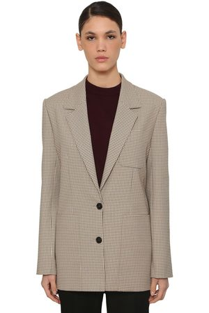 Nina Ricci Check Single Breast Jacket