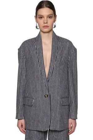 Isabel Marant Piety Pinstripe Cotton Blend Jacket