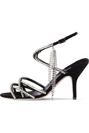 MAGDA BUTRYM 90mm Berlin Crystals Velvet Sandals