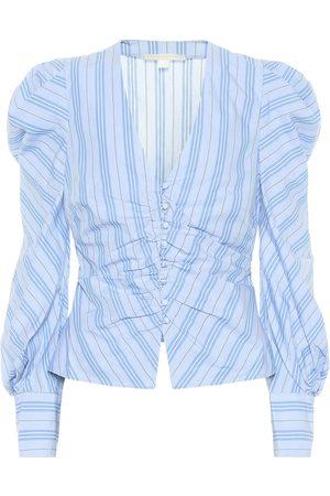 JONATHAN SIMKHAI Gestreifte Bluse aus Baumwolle