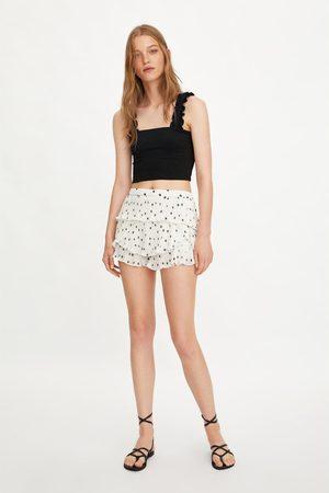 Zara Plissierte shorts