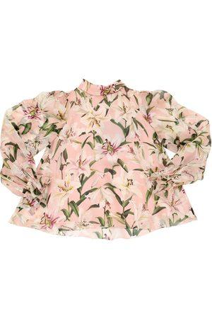 """Dolce & Gabbana Bluse Aus Seidenorganza """"lilium"""""""