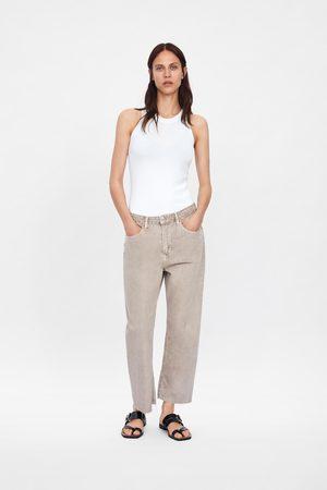 Zara Damen Straight - Jeans zw premium straight cropped