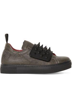 AM 66 Ledersneakers Mit Spikes