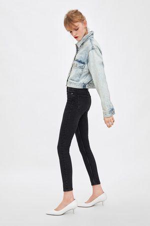 Zara Vintage-jeggings mit hohem bund
