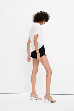 Zara Hi-rise-jeansshorts